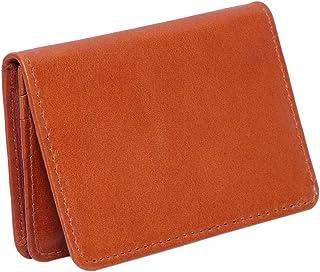 Laveri Genuine Leather Credit Card Holder Wallet Business and Credit Card Holder for Unisex - Leather, Brown