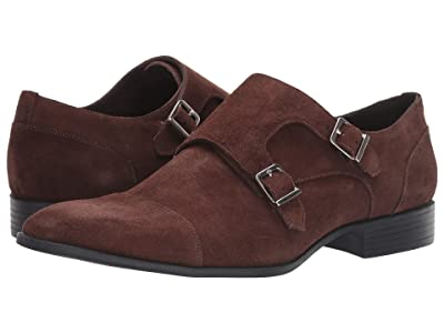 Massimo Matteo Suede Double Monk Classic (Terra Brown Suede) Men