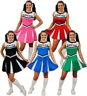 Cheerleader Fancy Dress Costume Womens High School Cheer Leader Uniform
