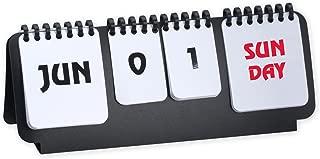 Marketing Innovations Intl Flip Chart Perpetual Calendar Desk Accessory Black/White Color