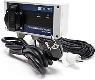 H-Tronic WPS 1000 waterniveauschakelaar V2 met watersensor en 10 m sensorkabel 3000 W watermelder