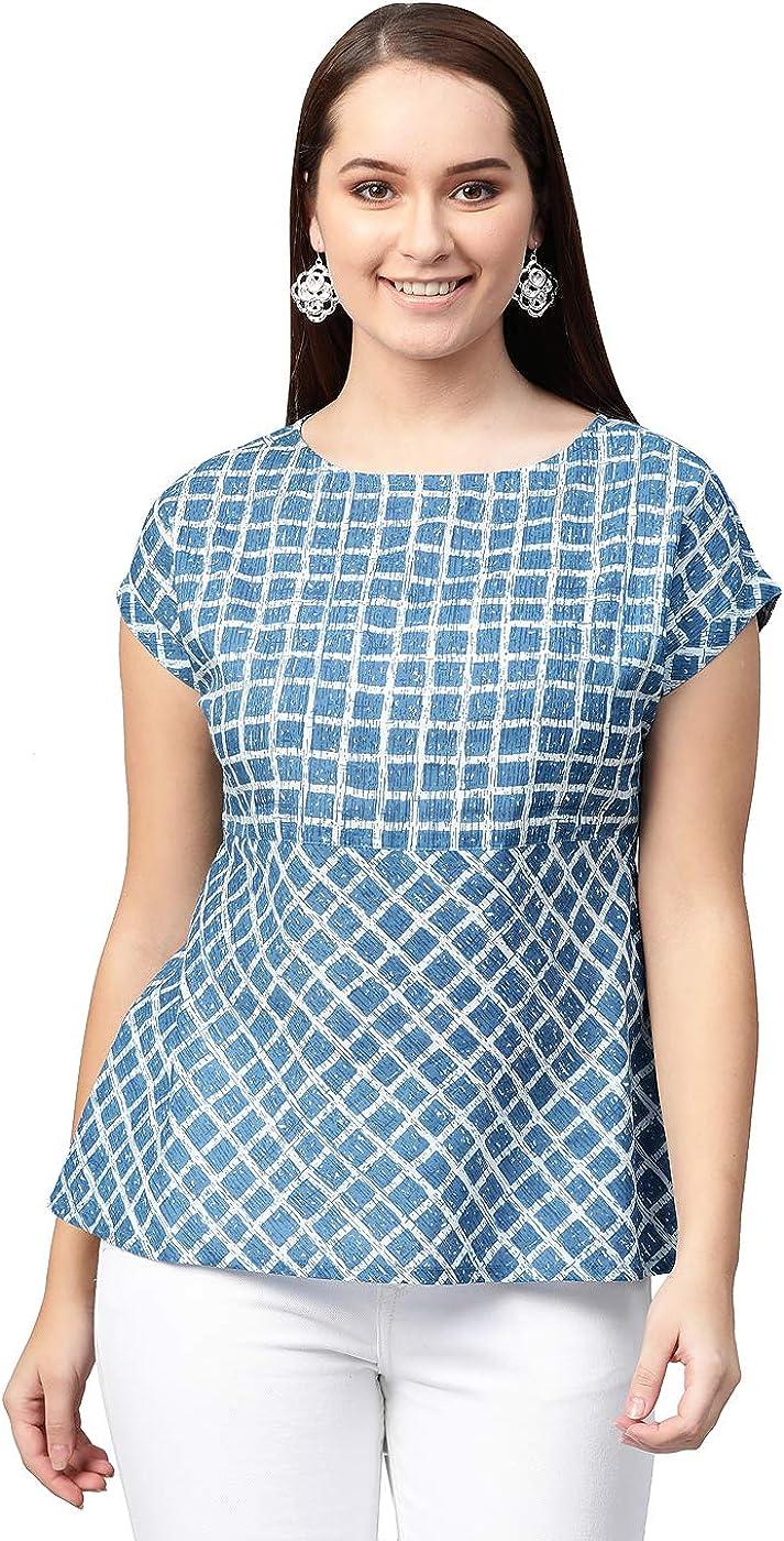 YASH GALLERY quality assurance Women's Indian Cambric Print Regular Popularity Cotton Checks