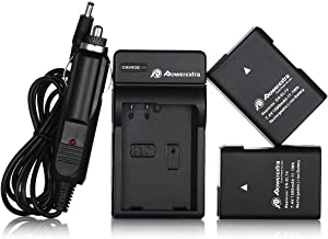 Powerextra EN-EL14 EN-EL14a 2 x Battery & Car Charger Compatible with Nikon D3100 D3200 D3300 D3400 D3500 D5100 D5200 D5300 D5500 D5600 P7000 P7100 P7200 P7700 P7800 DSLR Cameras