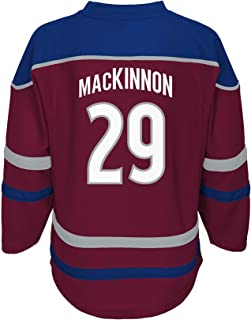 Nathan MacKinnon Colorado Avalanche Youth Burgundy Home Stripe Fashion Jersey