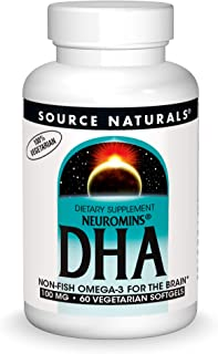 Source Naturals DHA, Neuromins 100 mg Non-Fish Omega-3 for the Brain - 60 Softgels