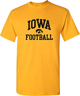 NCAA Arch Logo Football, Team Color T Shirt, College, University