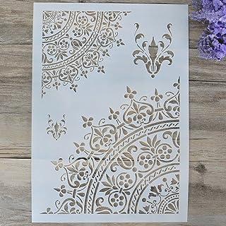 DIY Plantillas de mandala para pintar en la pared o para manualidades