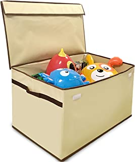 "EasyGoProducts Giant Toy Box Folding Toy Trunk Organizer, Toy Chest Collapsible Storage Bin, Great for Nursery or Any Room with Toy Box Lid and Side Handles - 30"" Wide x 16"" deep x 15"" Tall"