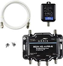 Arris 4-Port Bi-Directional Cable TV, OTA, Satellite HDTV Amplifier Splitter Signal..