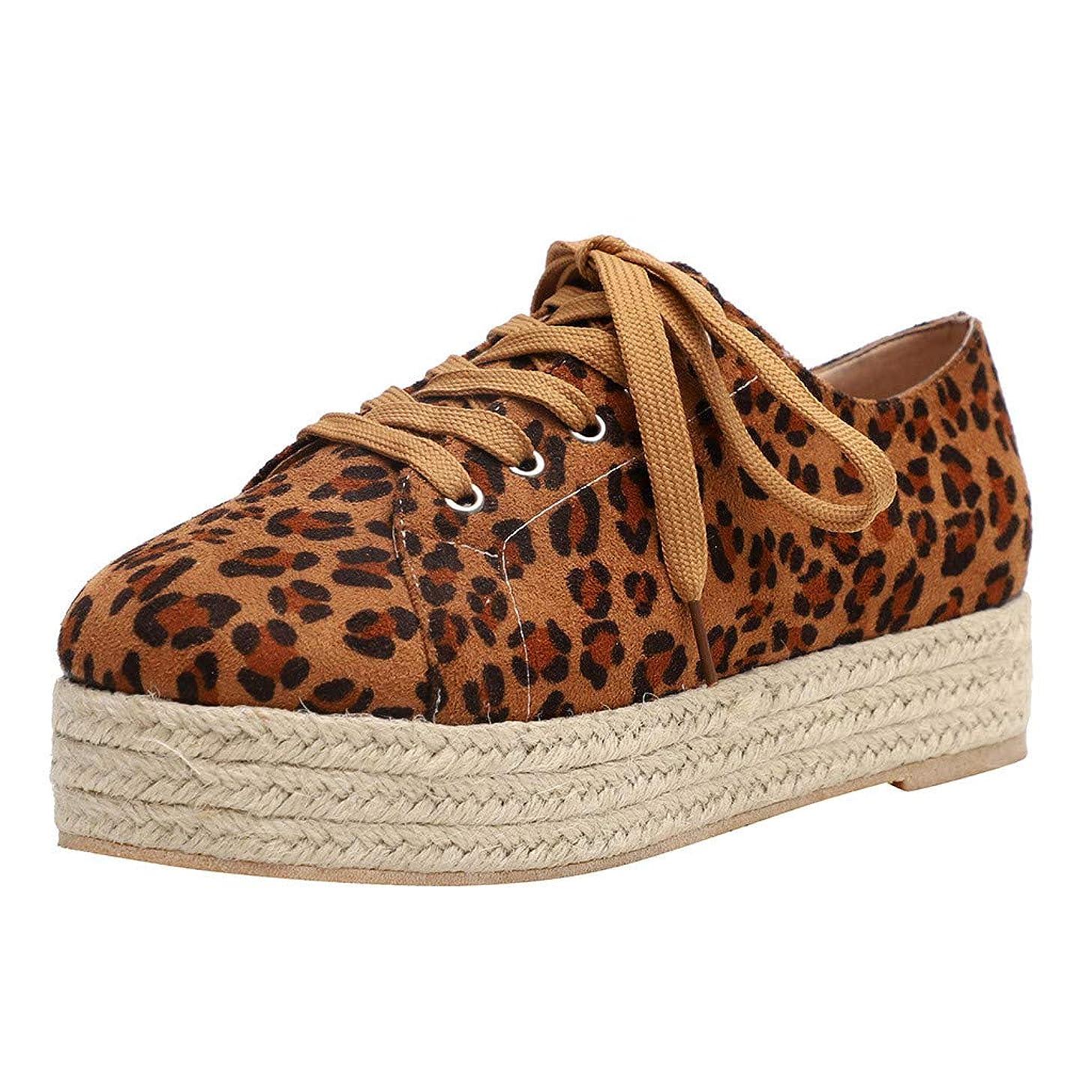 Sherostore ? Women's Trendy Leopard Elastic Low Top Canvas Loafers Platform Skate Sneakers Espadrille
