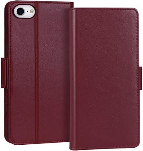"""FYY Case for iPhone SE 2020, iPhone 7/8 4.7"""", Luxury [Cowhide Genuine Leather][RFID Blocking] Wallet Case Cover with ..."""