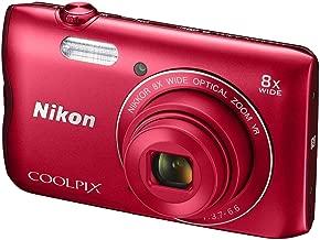 Nikon Coolpix 300 20MP Digital Camera (Red) International Model No Warranty (Renewed)