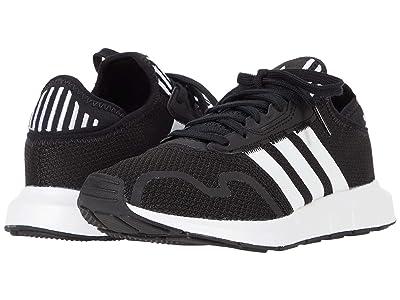adidas Originals Kids Swift ESS J (Big Kid) (Core Black/Footwear White/Core Black) Boys Shoes