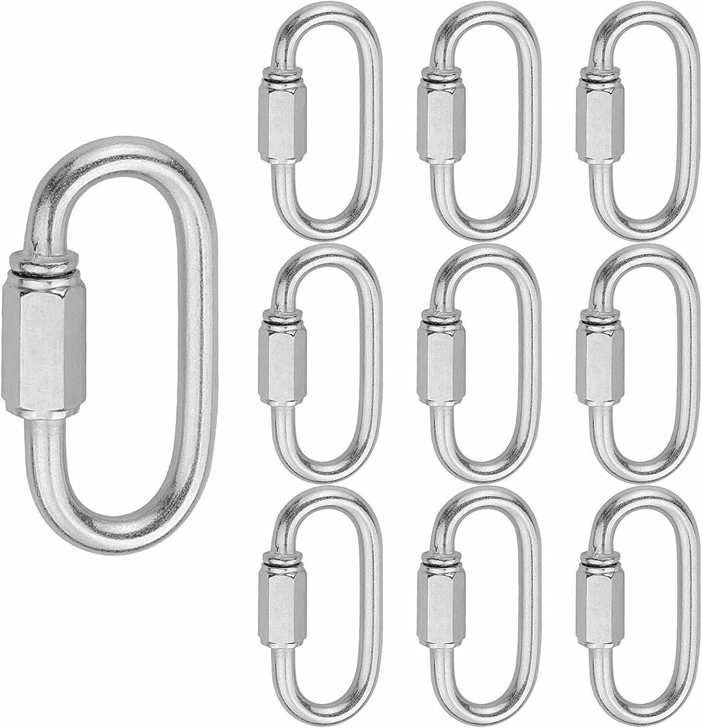 Holan Popularity M5 Quick Links Chain Connector Locking Carabiner Max 40% OFF Clip10pcs