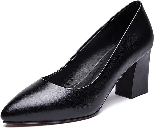 1to9pour Femme Affaires Pumps-chaussures Massif en uréthane Pompes Chaussures Mms06606 - Noir - Noir, 36.5 EU