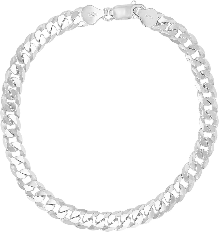 14K Gold or Rhodium Plated Silver F Classic Cuban Diamond Chain Cut All items free shipping Curb
