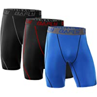 3-Pack Bafly Men's Compression Shorts Cool Dry Athletic Tights