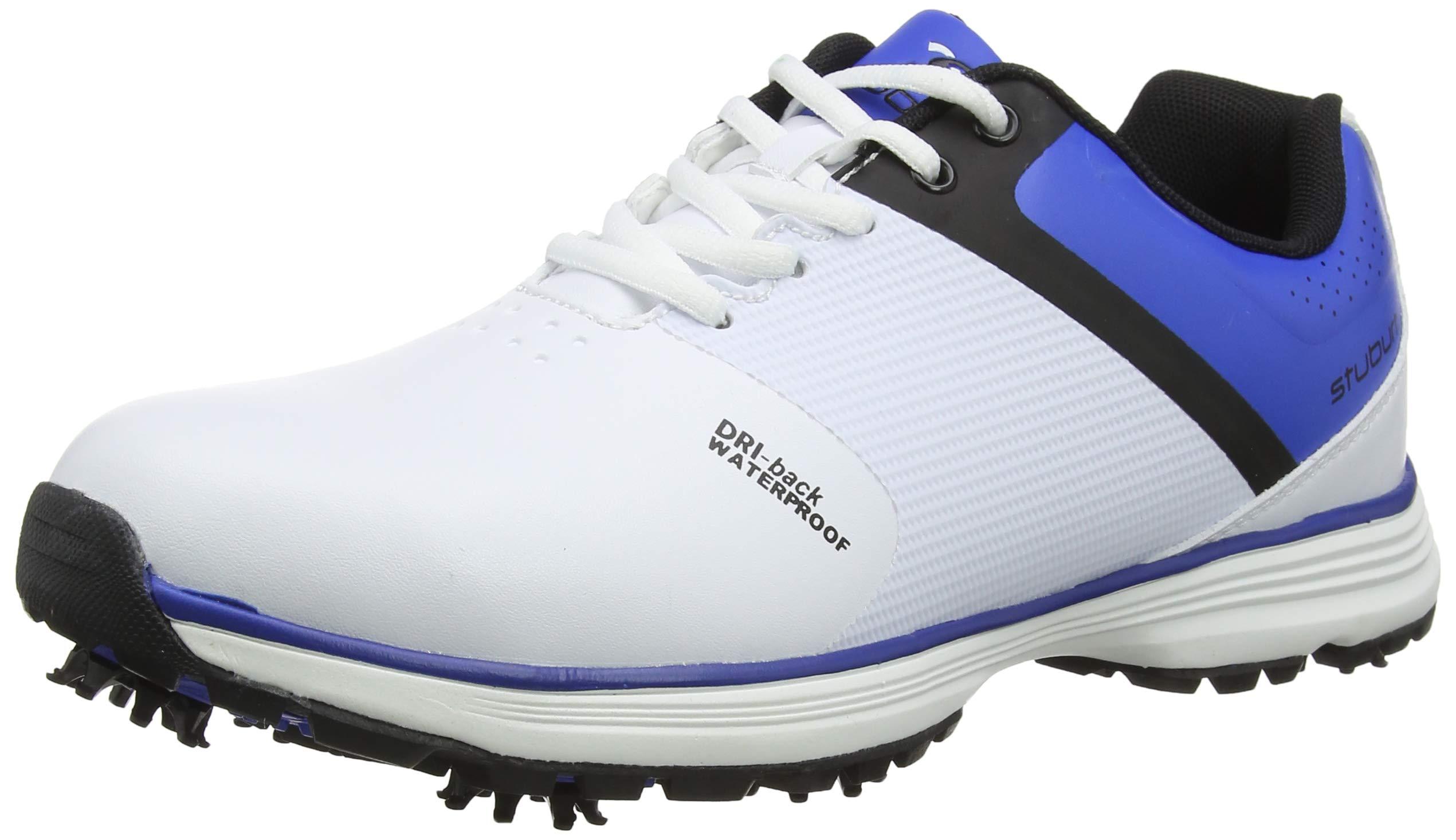 Stuburt SBSHU1111 PCT Sport Dri-Zapatillas de Golf a Prueba de Agua, Color Blanco y Azul, Talla, Hombre, 11 UK: Amazon.es: Deportes y aire libre
