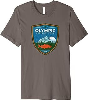 Retro Olympic National Park - Vintage T-Shirt Design