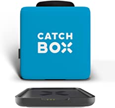 Catchbox Plus Microphone Transmitter with Microphone Foam Cap, Standard Cover and Wireless Charger, Blue