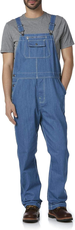 DieHard Men's Big & Tall Denim Bib Overalls, Blue
