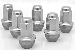 EZDealin Set of 6 Lug Nuts Polished Stainless 14x2 OEM Factory Style Replacement Wheel Nuts for Ford F-150 2004-2014 54mm Long 21mm Hex Size Set
