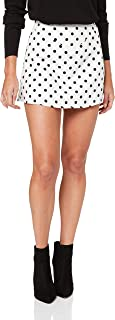 Lioness Women's Take A Chance On Me Skirt, White Based Polka Dot