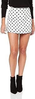 Lioness Women's Take A Chance On Me Skirt, White Based Polka Dot