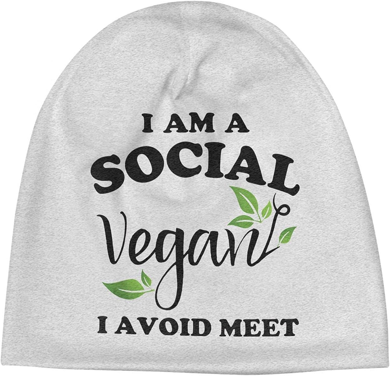Social Vegan I Beauty products Avoid Meet6 Slogan Vi 2021 model Hats Beanie Unisex Cap Warm