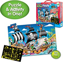 The Learning Journey Puzzle Doubles Glow in the Dark – Pirate Ship – 100 Piece Glow in the Dark Preschool Puzzle (3 x 2 feet) – Educational Gifts for Boys & Girls Ages 3 and Up