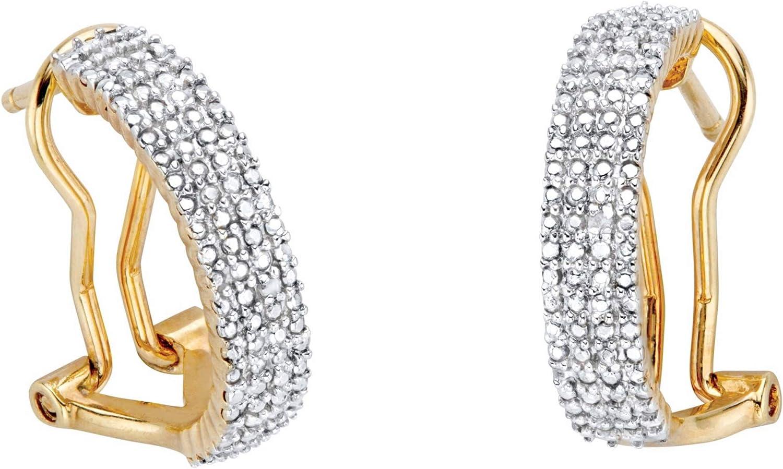 14K San Antonio Mall Yellow Gold or trust Platinum Genuine 19mm Plated Earrings Hoop
