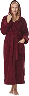 Women's GOTS Certified Organic Cotton Hooded Full Length Turkish Bathrobe