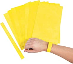 Fun Express - Yellow Self Adhesive Wrist Tckts 100pc - Party Supplies - Entertainment - Admission Tickets & Wristbands - 100 Pieces