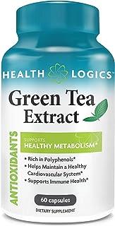 Health Logics Green Tea Extract Supplement 500 mg | Antioxidant Green Tea Pills for maintaining a Healthy Metabolism, Card...