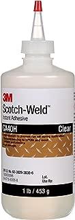 3M Scotch-Weld 21074 Instant Adhesive CA40H, 1 lb, Clear, 15.34 fl. oz.