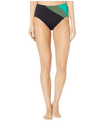 Kate Spade New York Color Blocking Reversible High-Waist Bikini Bottoms (Black) Women