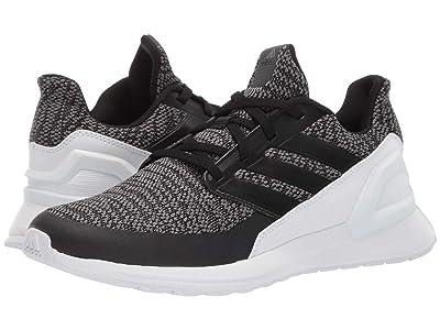 adidas Kids RapidaRun Knit (Big Kid) (Core Black/Core Black/Grey Six) Boys Shoes