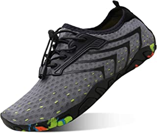 kealux Men Women Barefoot Quick-Dry Water Sports Shoes Multifunctional Sneakers with Drainage Holes for Swim, Walking, Yoga, Lake, Beach, Garden, Park, Driving, Boating