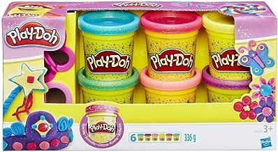 Play-Doh- Plastilina, Colección brillante, Multicolor (A5417)
