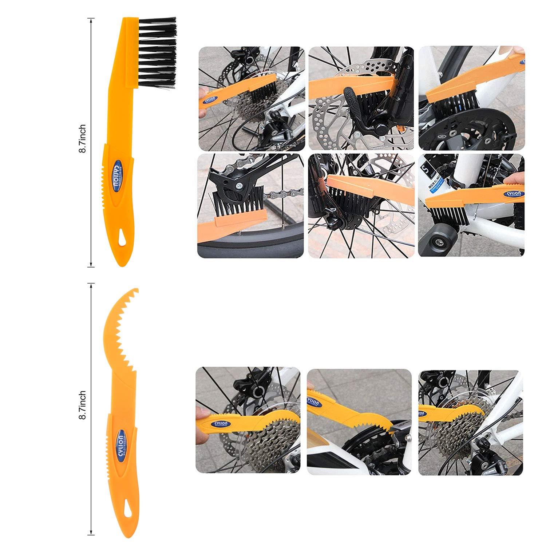 Tagvo 7pcs Juego de herramientas de limpieza de bicicletas ...