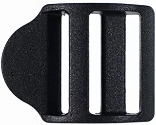 Paracord Planet Black Plastic Ladder Sliding Buckles – Fits 1 Inch Webbing Size – Multifunctional Hardware Piece for Fastening and Adjustments (5 Pack)