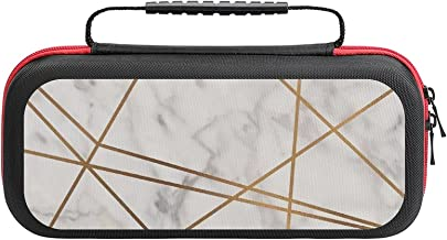 $26 » Golden Poly Marble Case Compatible with Switch Case Protective Carry Bag Hard Shell Storage Bag Portable Travel Case for S...