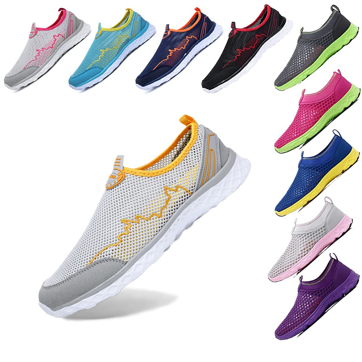 KRIMUS Walking Shoes for Women  Water Resistant Shoes Women   Aqua Shoes   Womens Water Sneakers   Slip on Water Shoes Women