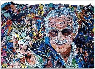 Impresión De Imagen De Arte De Graffiti Moderno Colorido Street Art Anime Marvel Stan Lee Hombre Retrato Carteles HD Print Arte De Pared De Lona Mural De Decor Del Hogar - Sin Marco,40×60cm