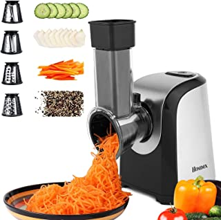 Homdox Electric Slicers, Professional Salad Maker, 150W Electric Slicer Shredder/Gratersr/Chopper/Shooter with One-Touch C...
