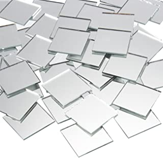 Craft Mirrors - 120-Pack Bulk Square Mirror Tiles - 1x1 Inch Glass Mosaic Tiles