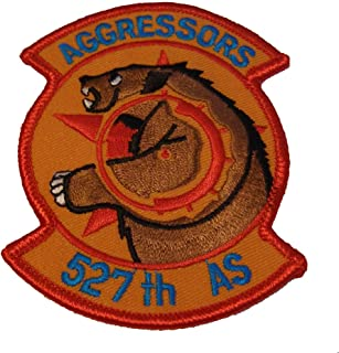 USAF 527th Aggressor Squadron Shoulder Patch - Color - Veteran Owned Business.