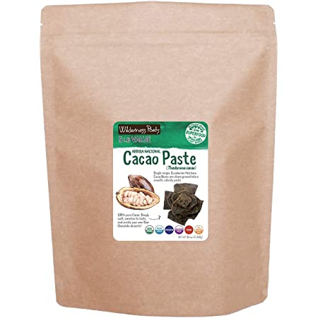 Wilderness Poets Organic Cacao Paste - Made from Stone Ground, Raw 100% Cacao Beans (80 Ounce - 5 Pound)