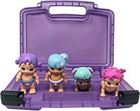 Life Made Better Kid's Toy Organizer Box, Compatible with Little Live Bizzy Bubs, Holds 4-8 Toy Babies, Purple