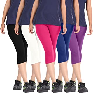 ROOLIUMS Women's Cotton Shorts (HRCAPRI5BWPBLPURP, Free Size)